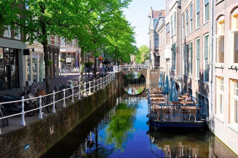 Παλαιά πόλη του Ντελφτ στην Ολλανδία στοκ φωτογραφία με δικαίωμα ελεύθερης χρήσης