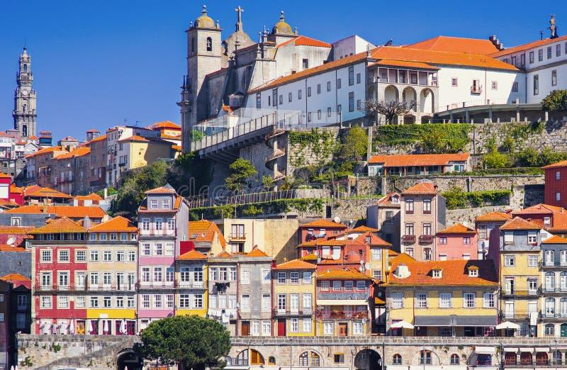 Παλαιά πόλη του Πόρτο, Πορτογαλία στον ποταμό Douro στοκ εικόνες
