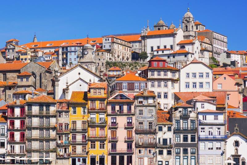 Παλαιά πόλη του Πόρτο, Πορτογαλία στον ποταμό Douro στοκ εικόνα με δικαίωμα ελεύθερης χρήσης