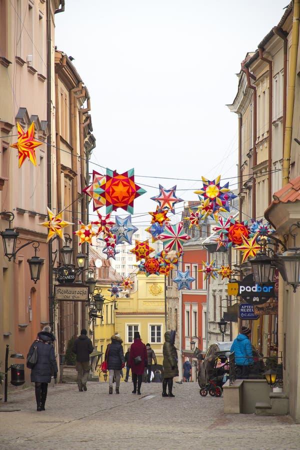 Παλαιά πόλη του Lublin, Πολωνία στοκ εικόνες