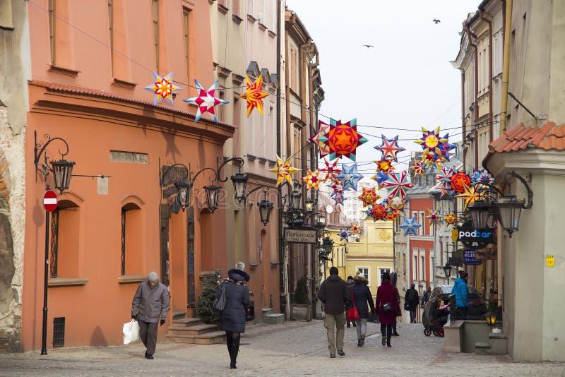 Παλαιά πόλη του Lublin, Πολωνία στοκ φωτογραφίες