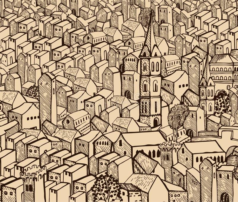 παλαιά πόλη ελεύθερη απεικόνιση δικαιώματος