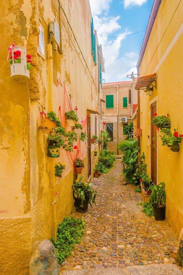 Παλαιά πόλη Alghero, Ιταλία στοκ φωτογραφίες