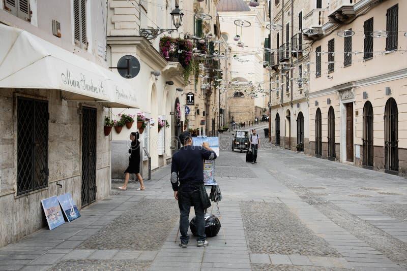 Παλαιά πόλη Alghero, Σαρδηνία, Ιταλία στοκ εικόνες