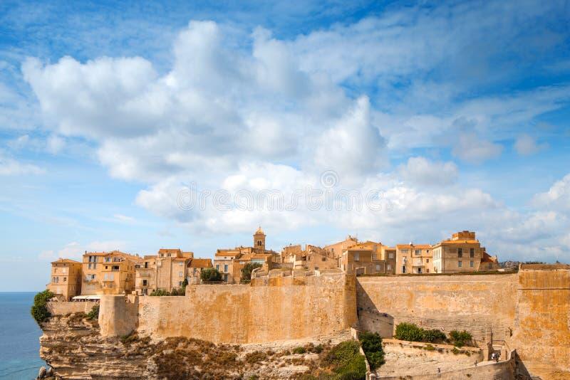 Παλαιά πόλη Bonifacio, στην Κορσική, Γαλλία στοκ εικόνες