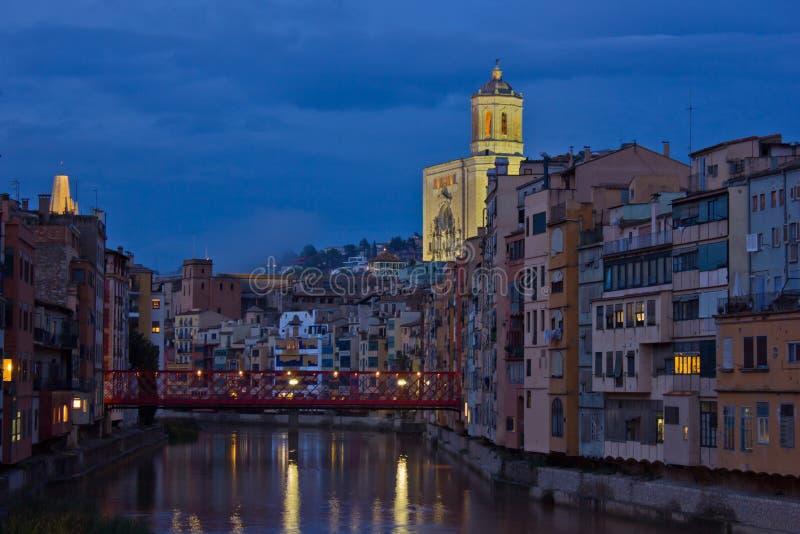 Παλαιά πόλη Girona, Ισπανία στοκ φωτογραφία
