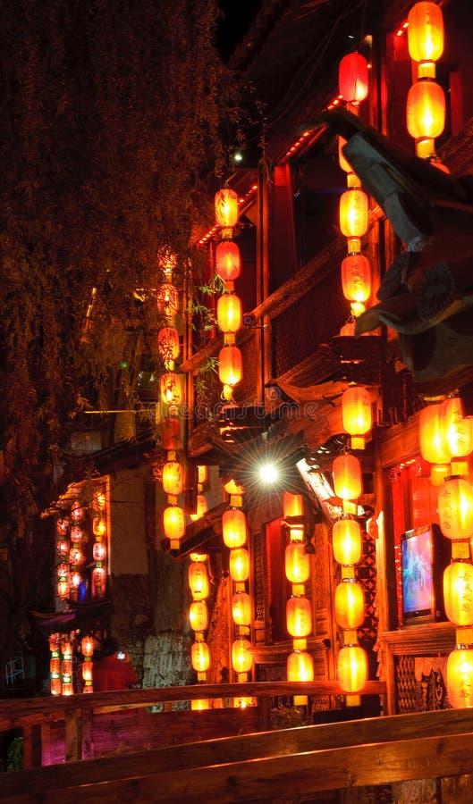 Παλαιά πόλη Lijiang στο nightr στοκ φωτογραφίες