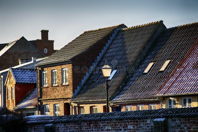 Παλαιά πόλη Ribe στη Δανία στοκ εικόνες