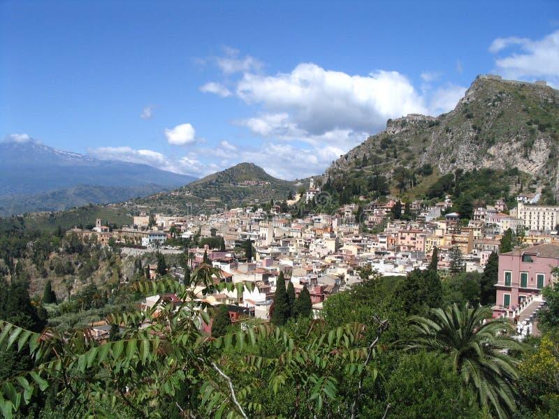 παλαιά πόλη taormina στοκ εικόνα με δικαίωμα ελεύθερης χρήσης