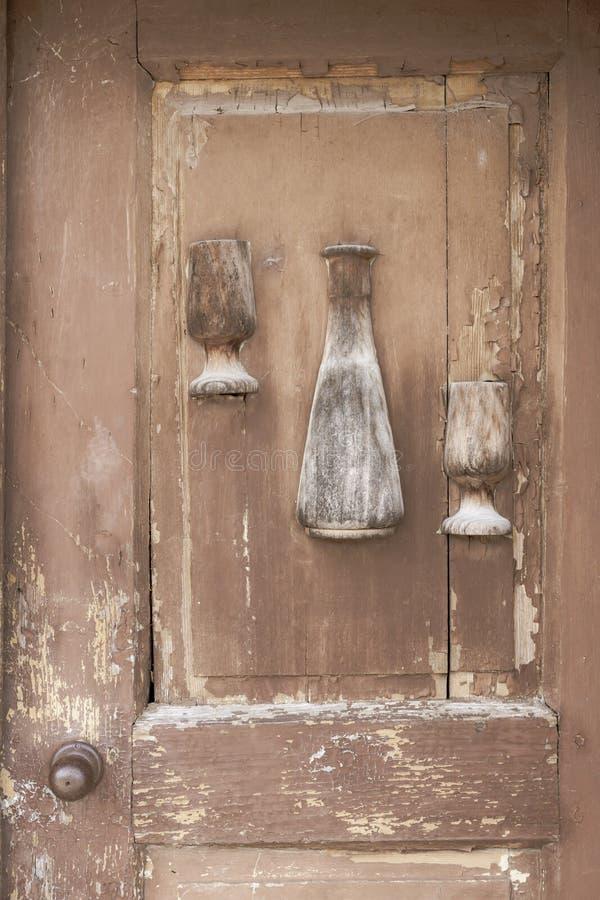 παλαιά πόρτα, κελάρια κρασιού, Villanykovesd, Ουγγαρία στοκ φωτογραφίες με δικαίωμα ελεύθερης χρήσης