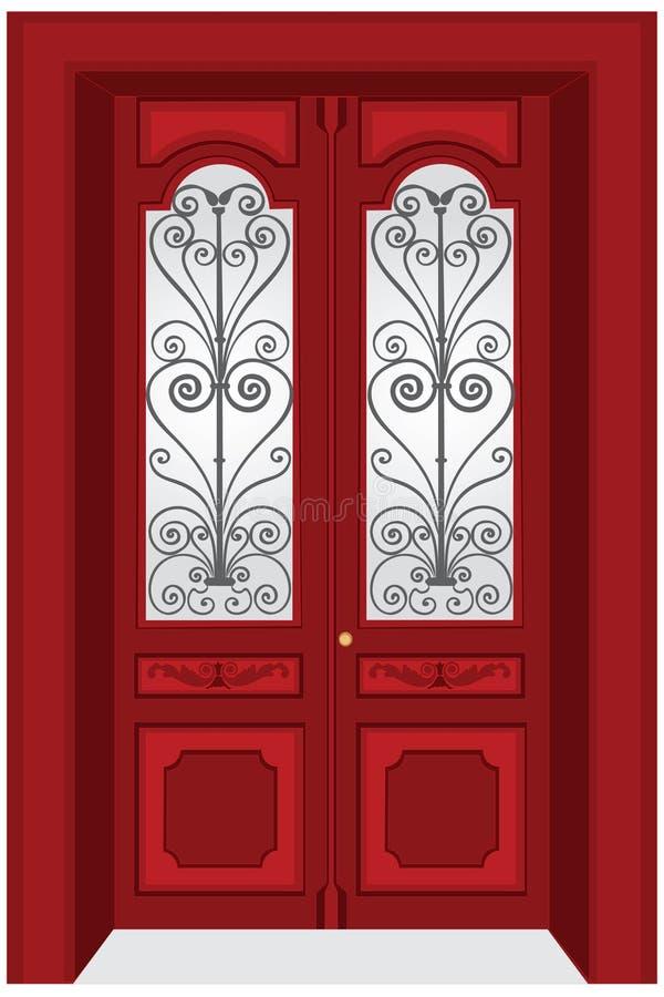 παλαιά πόρτα διανυσματική απεικόνιση