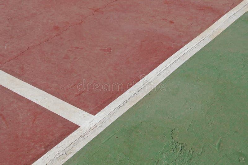 Παλαιά ράβδωση γηπέδων αντισφαίρισης στοκ εικόνες με δικαίωμα ελεύθερης χρήσης