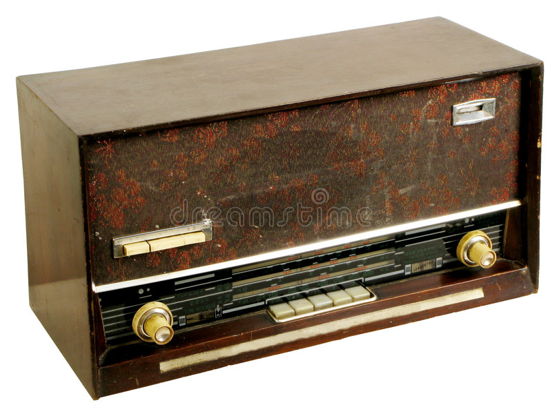 παλαιά ραδιόφωνα στοκ εικόνα