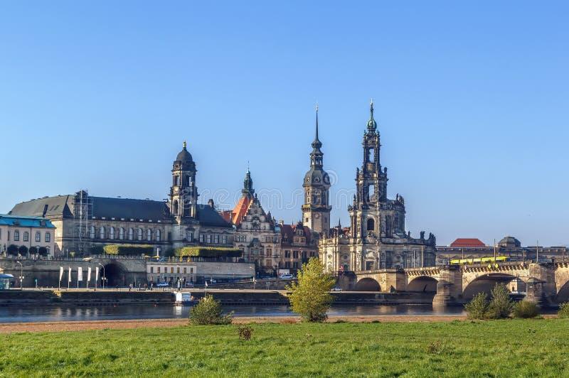 παλαιά Σαξωνία πόλη της Δρέσδης Γερμανία στοκ φωτογραφία με δικαίωμα ελεύθερης χρήσης