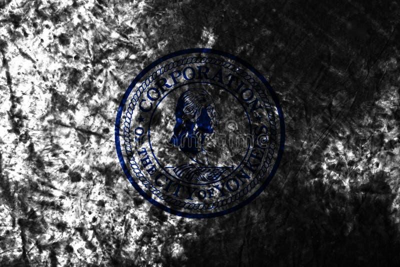 Παλαιά σημαία πόλεων Yonkers grunge, υπόβαθρο, κράτος της Νέας Υόρκης, Πολιτεία Americ στοκ εικόνα