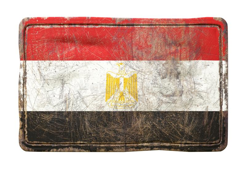 Παλαιά σημαία της Αιγύπτου απεικόνιση αποθεμάτων