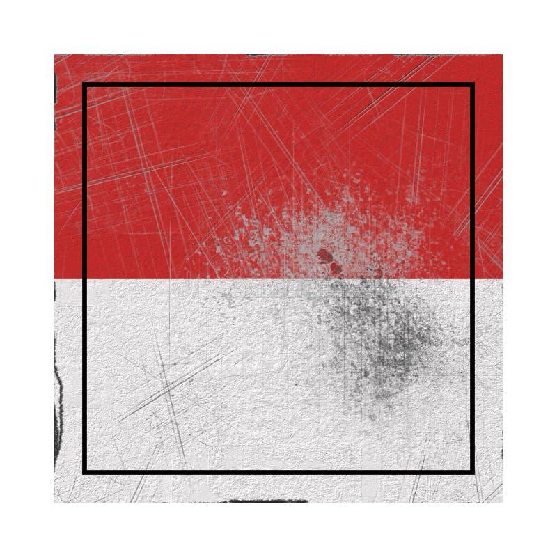 Παλαιά σημαία του Μονακό ελεύθερη απεικόνιση δικαιώματος