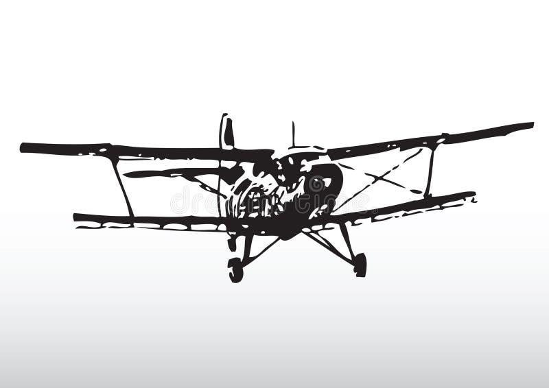 παλαιά σκιαγραφία αεροπ&l διανυσματική απεικόνιση