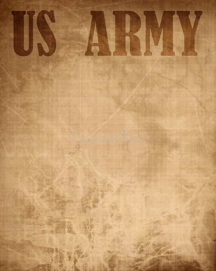 Παλαιά σύσταση εγγράφου με «το αμερικάνικο στρατό» διανυσματική απεικόνιση
