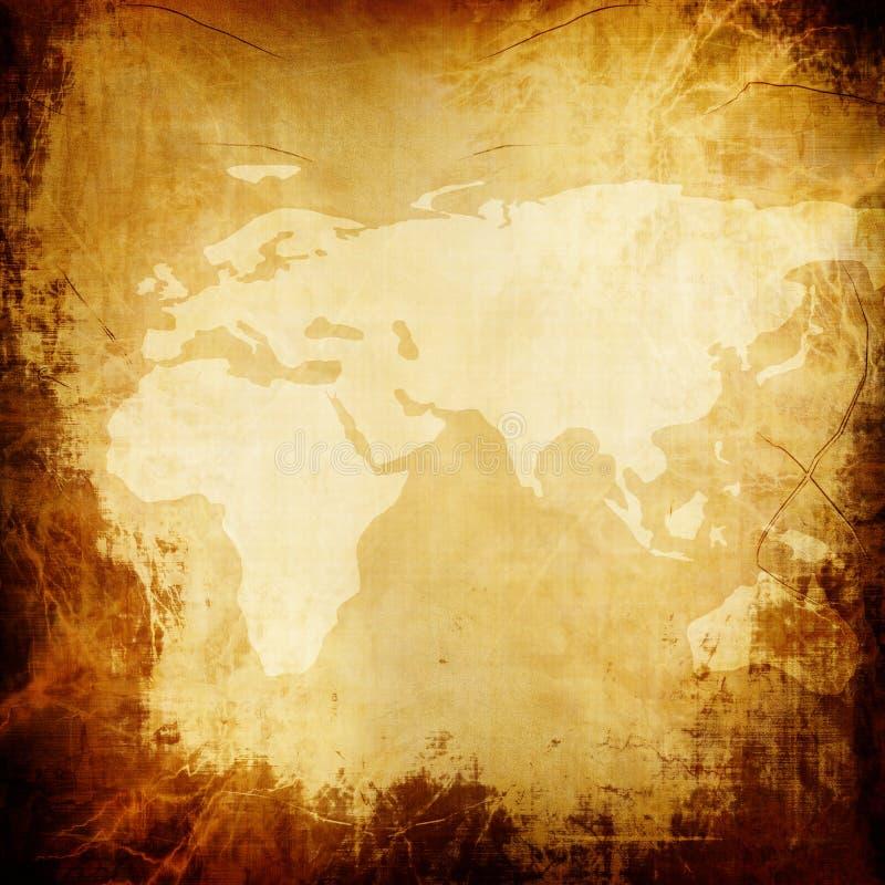 Παλαιά σύσταση εγγράφου με το χάρτη ελεύθερη απεικόνιση δικαιώματος