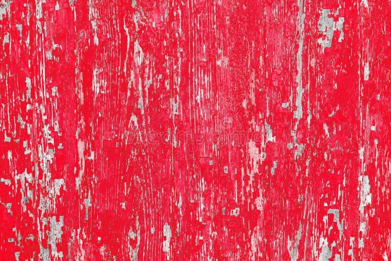 παλαιά σύσταση ξύλινη κόκκινο χρωμάτων Εκλεκτής ποιότητας σχέδιο επιφάνεια που φοριέται στοκ φωτογραφία με δικαίωμα ελεύθερης χρήσης