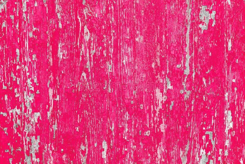 παλαιά σύσταση ξύλινη ροζ χρωμάτων Εκλεκτής ποιότητας σχέδιο επιφάνεια που φοριέται στοκ εικόνες