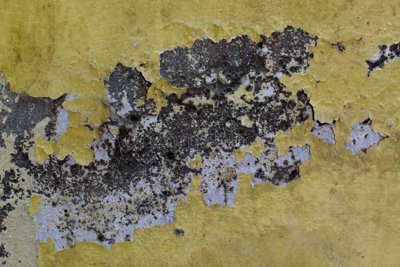 Παλαιά σύσταση τοίχων με το χρώμα αποφλοίωσης στοκ φωτογραφίες