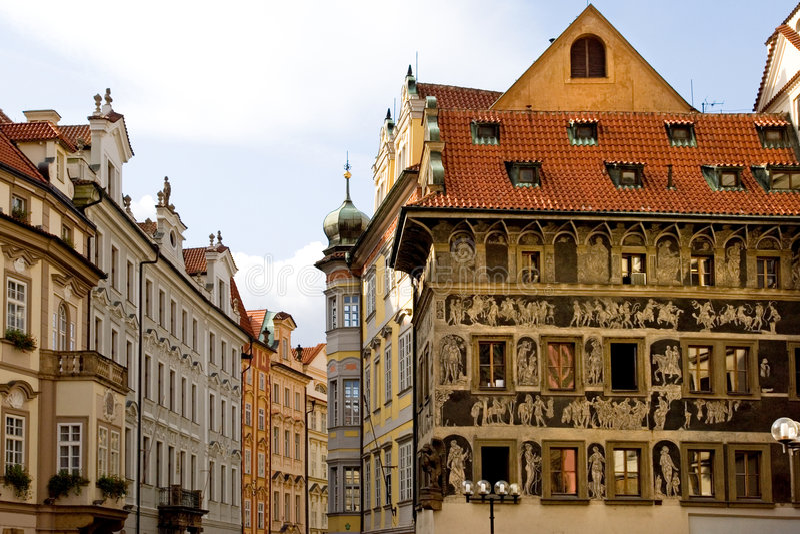 παλαιά τετραγωνική πόλη στοκ εικόνες