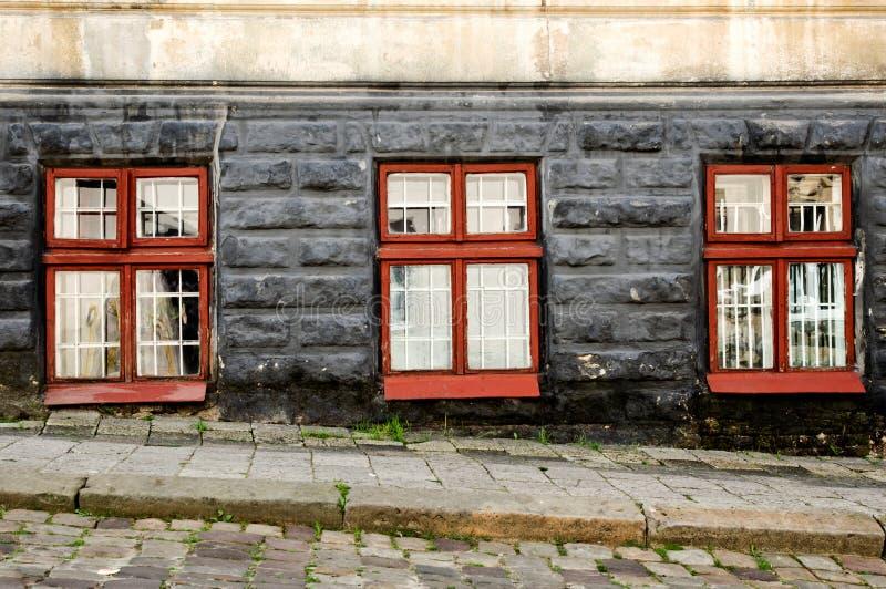 παλαιά τρία εκλεκτής ποιότητας Windows στοκ φωτογραφία με δικαίωμα ελεύθερης χρήσης