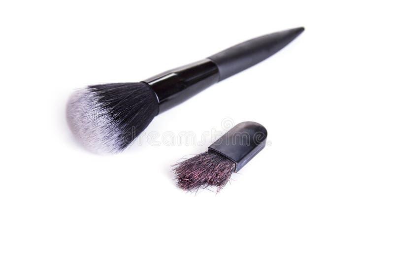 Παλαιά φθαρμένη makeup βούρτσα με νέα στοκ φωτογραφία με δικαίωμα ελεύθερης χρήσης