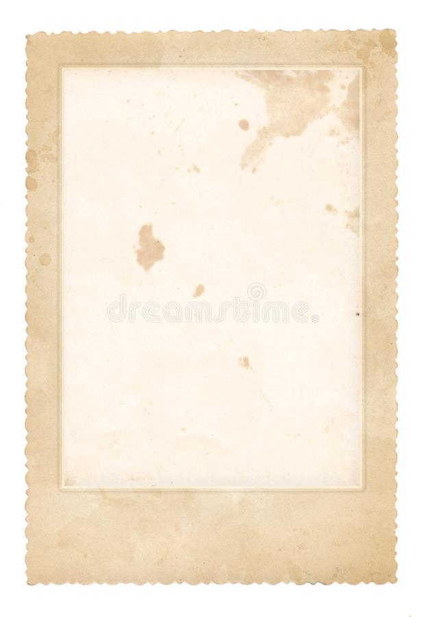 παλαιά φωτογραφία πλαισίων Εκλεκτής ποιότητας έγγραφο κάρτα αναδρομική στοκ φωτογραφίες με δικαίωμα ελεύθερης χρήσης