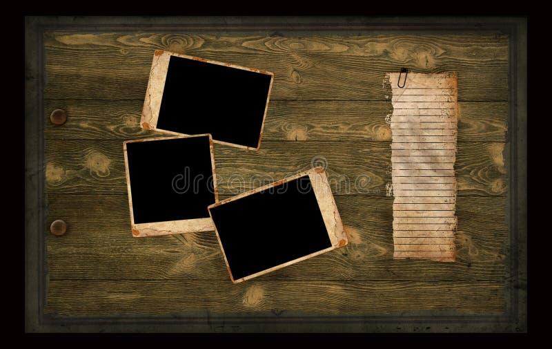 παλαιά φωτογραφία σελίδων λευκωμάτων στοκ εικόνα με δικαίωμα ελεύθερης χρήσης