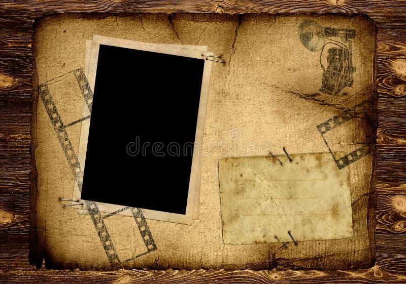 παλαιά φωτογραφία σελίδων λευκωμάτων στοκ εικόνα