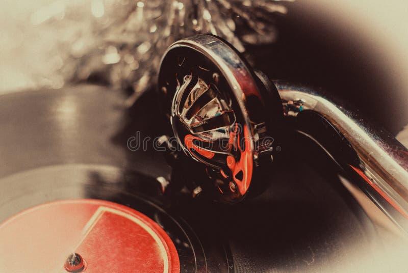 Παλαιά gramophone πικάπ βελόνα στην κινηματογράφηση σε πρώτο πλάνο αρχείων Εκλεκτής ποιότητας τονισμός στοκ φωτογραφίες με δικαίωμα ελεύθερης χρήσης