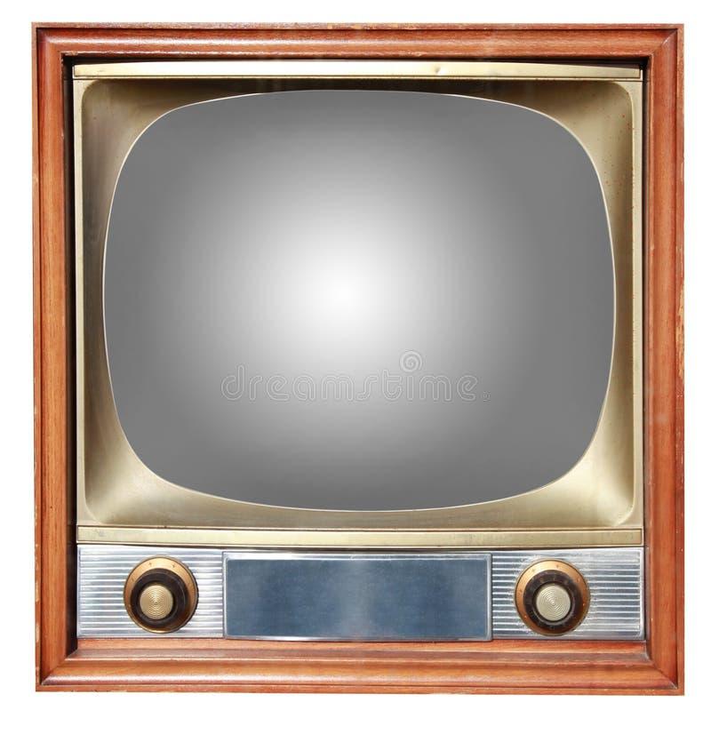 παλαιά TV περιγραμμάτων στοκ εικόνα