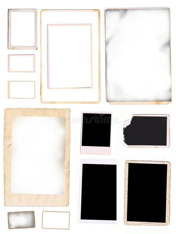 παλαιές αρχικές φωτογρα&ph διανυσματική απεικόνιση