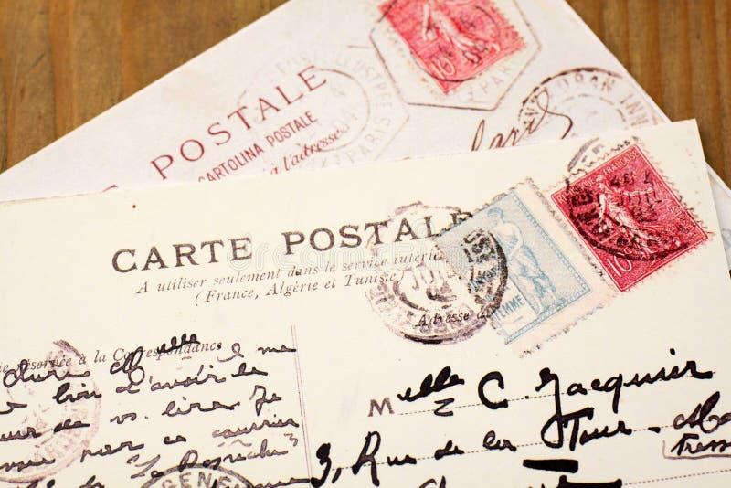 Παλαιές γαλλικές κάρτες στοκ φωτογραφία
