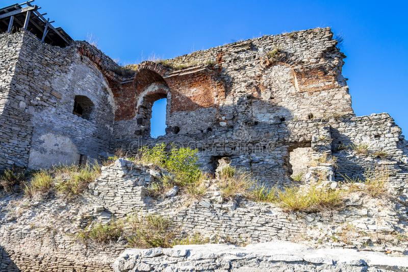 Παλαιές καταστροφές ακροπόλεων Deva στη Ρουμανία στοκ εικόνα με δικαίωμα ελεύθερης χρήσης