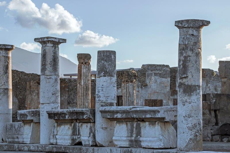 Παλαιές καταστροφές στην Πομπηία Ιταλία στοκ εικόνες με δικαίωμα ελεύθερης χρήσης