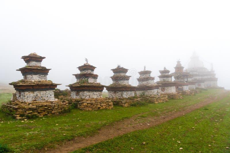 Παλαιές παραδοσιακές βουδιστικές δομές gompa Nar στο χωριό, περιοχή συντήρησης Annapurna, Νεπάλ στοκ εικόνα με δικαίωμα ελεύθερης χρήσης