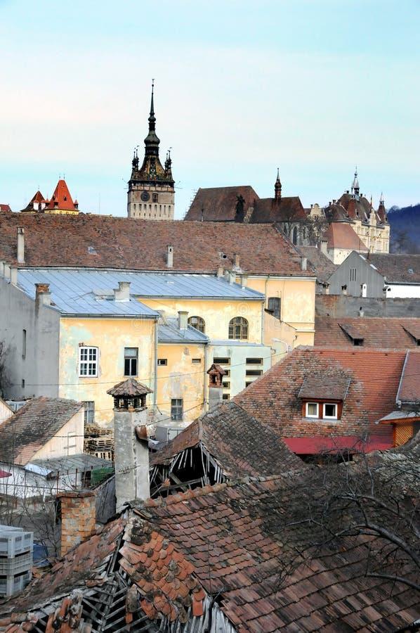παλαιές στέγες πόλεων στοκ εικόνες με δικαίωμα ελεύθερης χρήσης