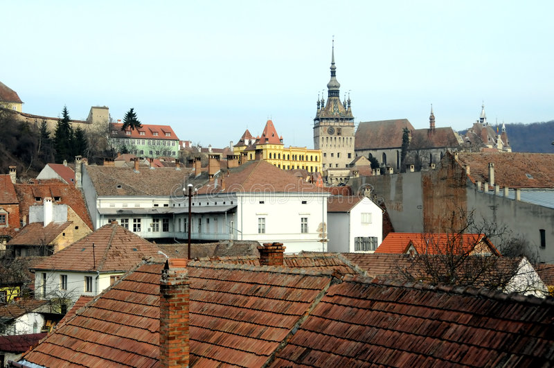 παλαιές στέγες πόλεων στοκ εικόνα με δικαίωμα ελεύθερης χρήσης