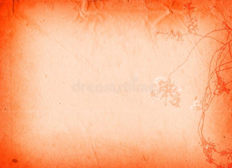 παλαιές συστάσεις εγγράφου λουλουδιών διανυσματική απεικόνιση