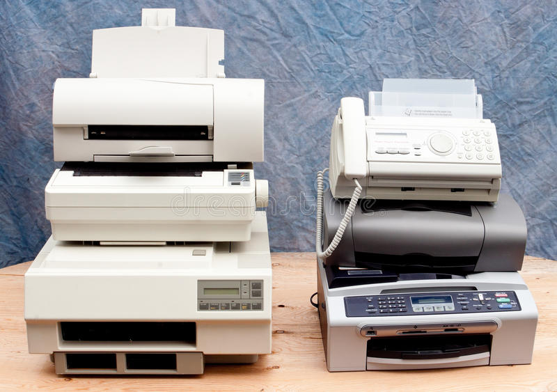 παλαιοί εκτυπωτές στοκ εικόνα με δικαίωμα ελεύθερης χρήσης