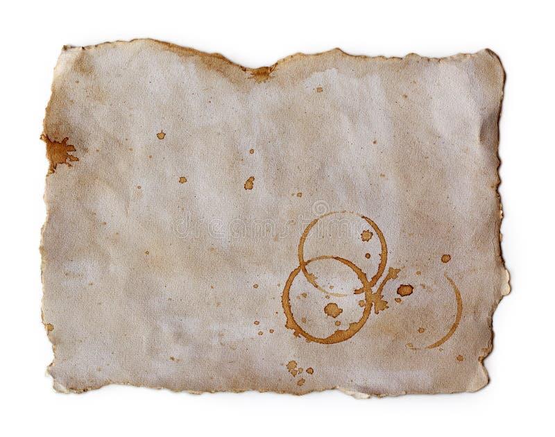 παλαιοί λεκέδες εγγράφ&om στοκ φωτογραφία