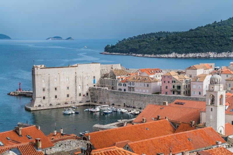 Παλαιοί πόλης λιμένας και μαρίνα Dubrovnik στοκ εικόνα