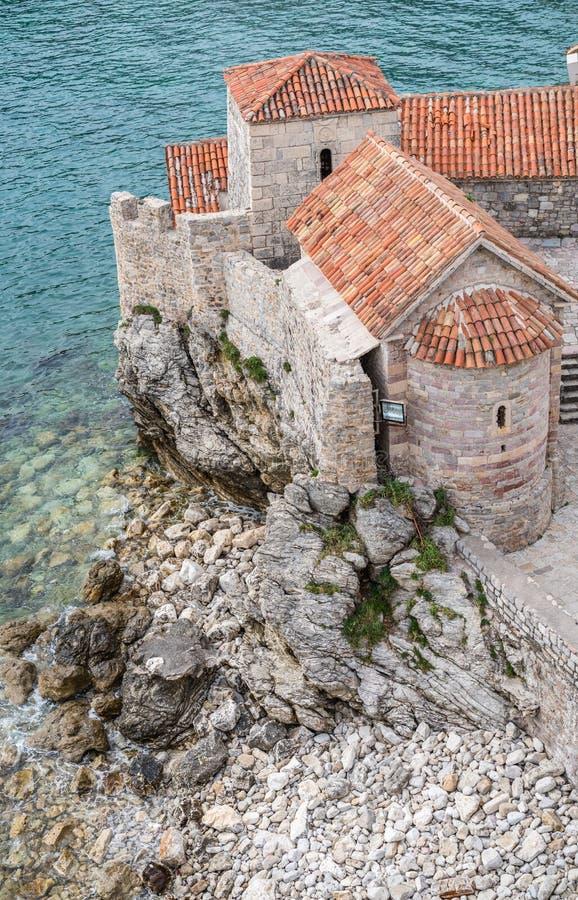 Παλαιοί τοίχοι οχυρών σε Budva στοκ φωτογραφία με δικαίωμα ελεύθερης χρήσης