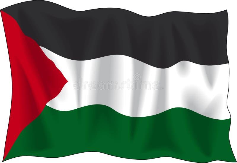 Παλαιστίνιος σημαιών διανυσματική απεικόνιση
