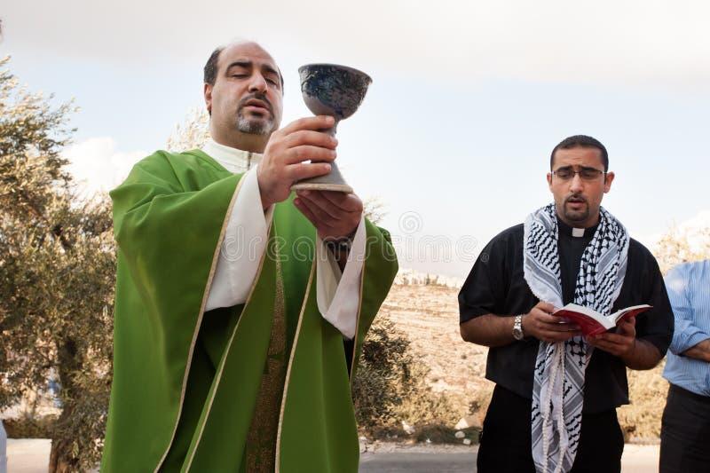 Παλαιστινιακοί Χριστιανοί στοκ εικόνες με δικαίωμα ελεύθερης χρήσης