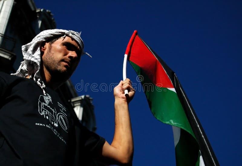 παλαιστινιακός υποστηρ&i στοκ φωτογραφία
